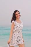 Happy Beautiful Woman Enjoying Summer Vacation Stock Photos