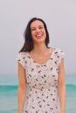 Happy Beautiful Woman Enjoying Summer Vacation Stock Image