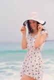 Happy Beautiful Woman Enjoying Summer Vacation Royalty Free Stock Photography