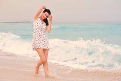 Happy Beautiful Woman Enjoying Summer Vacation Royalty Free Stock Photo