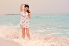 Happy Beautiful Woman Enjoying Summer Vacation Stock Photography