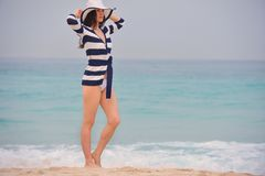 Happy Beautiful Woman Enjoying Summer Vacation Stock Photo