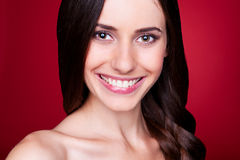 Happy beautiful woman with long hair Royalty Free Stock Images