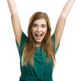 Happy beautiful woman Stock Image