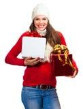 Happy beautiful woman shopping Stock Photo