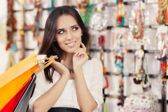 Free Happy Beautiful Woman Shopping Royalty Free Stock Images - 49769219
