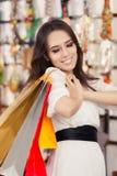 Happy Beautiful Woman Shopping Royalty Free Stock Image