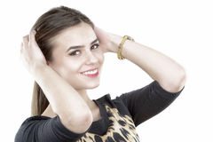 Happy Beautiful Woman Smiling Royalty Free Stock Images