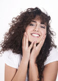 Happy beautiful young woman Stock Image