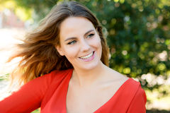 Happy beautiful young woman laughing Royalty Free Stock Photography