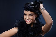 Happy beauty in party outfit Royalty Free Stock Photo
