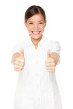 Happy beauty spa therapist woman successful stock photos