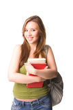 Happy and beauty student. Isolated Stock Photography