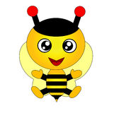 Happy bee Royalty Free Stock Photo