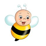 Happy bee Stock Photography