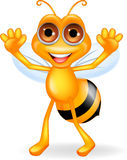 Happy bee cartoon Stock Photography