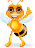 Happy bee cartoon Stock Images