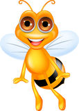 Happy bee cartoon Royalty Free Stock Images
