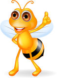 Happy bee cartoon Royalty Free Stock Photos