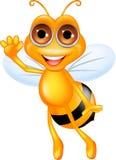 Happy bee cartoon Stock Images