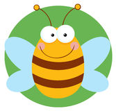 Happy bee cartoon character Stock Photography