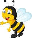 Happy Bee cartoon flying Stock Photos