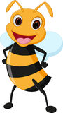 Happy bee cartoon Stock Image