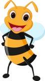Happy bee cartoon Stock Image