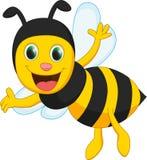 Happy bee cartoon Royalty Free Stock Images