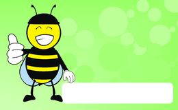 Happy Bee catoon expression background Royalty Free Stock Image
