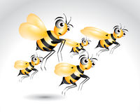 Happy Bee Character Royalty Free Stock Photos