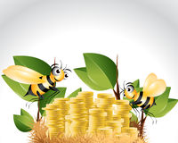 Happy Bee Character Royalty Free Stock Photo