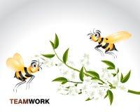 Happy Bee Character. Cartoon Illustration royalty free illustration