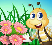 A happy bee at the garden Royalty Free Stock Photo