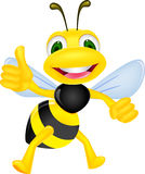 Happy bee with thumb up Stock Images