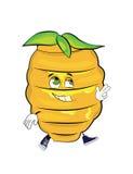 Happy beehive cartoon Stock Image