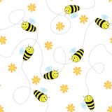 Happy bees stock illustration