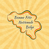 Happy Belgian National Day Royalty Free Stock Photos