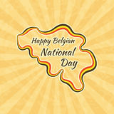 Happy Belgian National Day Royalty Free Stock Photo