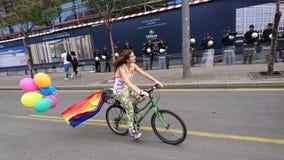 Happy Belgrade pride. The 4 th consecutive Belgrade pride Royalty Free Stock Photography