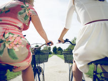 Happy on the bicycles Royalty Free Stock Photos