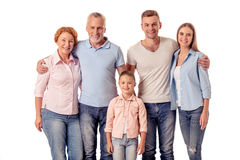 Happy big family Royalty Free Stock Images