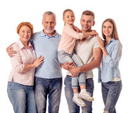 Happy big family Royalty Free Stock Photos