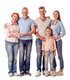 Happy big family Royalty Free Stock Photography