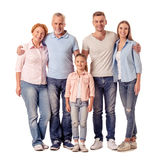 Happy big family Stock Image