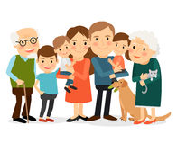 Happy big family portrait Stock Image