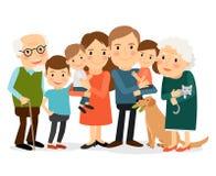 Happy big family portrait Stock Image