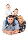 Happy big family posing Royalty Free Stock Image