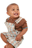 Happy big smiling 1-year old baby boy portrait Stock Photography