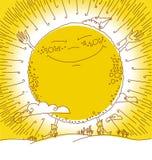 Happy big sun Stock Photos